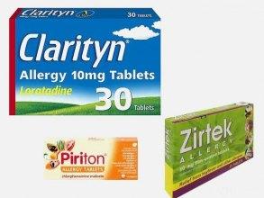 Clarityn / Zirtec / Piriton allergy medication